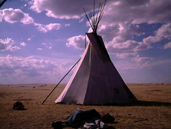 Tipi at the Tokala Break Camp